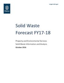 Solid Waste Forecast FY17-18
