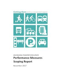 2018 RTP Performance Measures Scoping Report