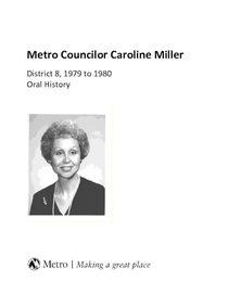 Metro Councilor Caroline Miller
