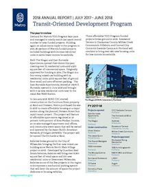 Transit-Oriented Development Program 2018 Annual Report