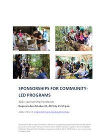 2021 Community-led sponsorship handbook