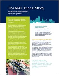 The MAX Tunnel Study fact sheet