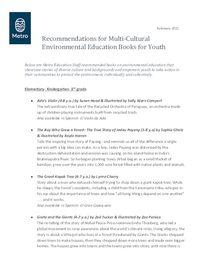 Multi-cultural environmental education books