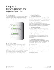 Chapter III, Future Direction and Regional Policies