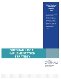 City of Gresham's local implementation strategy