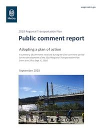 Public comment report, September 2018