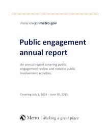 Public engagement annual report 2014-2015