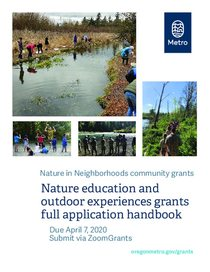 2020 Nature education and outdoor experiences grants full application handbook
