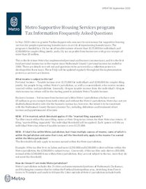 Supportive Housing Services tax collection information