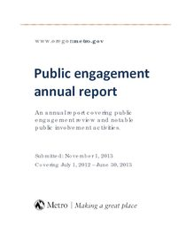 Public engagement annual report 2012-2013