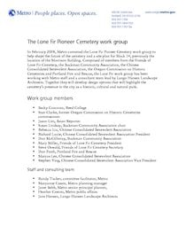 Lone Fir Pioneer Cemetery work group
