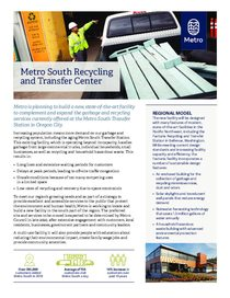 Metro South recycling and transfer center overview