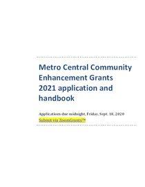 2021 Applicant & Grantee Handbook v1