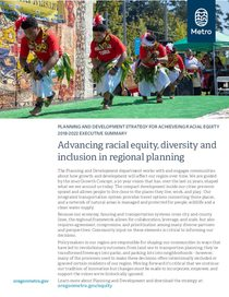 Planning and development: Racial equity plan executive summary