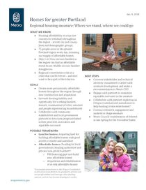 Regional Housing Measure: Fact sheet and draft engagement timeline