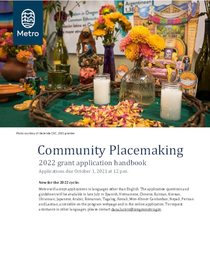 2022 Community Placemaking grants application handbook