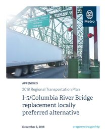 Appendix S - I-5/Columbia River Bridge replacement locally preferred alternative