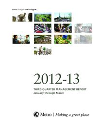 2012-13 quarter 3 management report
