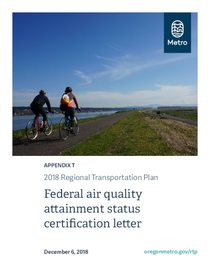 Appendix T - Federal air quality attainment status certification letter