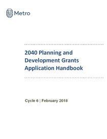 2040 Planning & Development Grants Application Handbook
