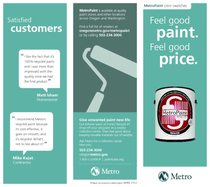 MetroPaint brochure and swatches