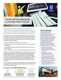 Descripción general del centro de reciclaje y transferencia Metro South