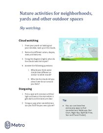 Nature activities for neighborhoods - sky watching