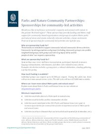 2019 Sponsorships for community-led activities factsheet