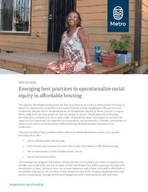 Emerging best practices to operationalize racial equity in affordable housing