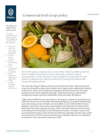 Commercial food scraps policy overview