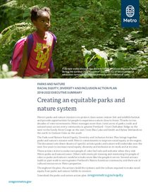 Parks and nature: Racial equity plan executive summary