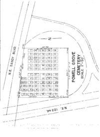 Powell Grove Cemetery map