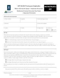 Metro and Multnomah County tax OPT form - Spanish