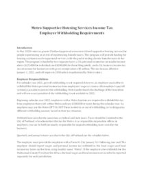 SHS income tax employer withholding requirements