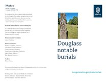 Douglas Cemetery self-guided tour