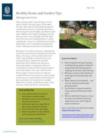 Spring lawn care and dressing sustainably May 2021