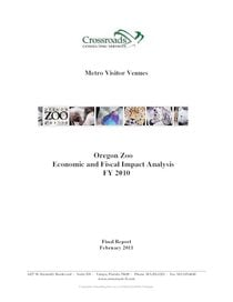 2009–10 Oregon Zoo economic and fiscal impact analysis report