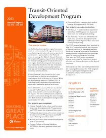 Transit-oriented Development Program 2013 annual report