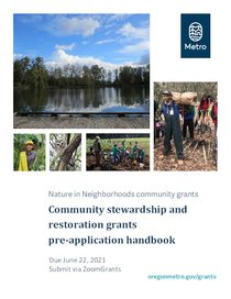 Pre application handbook: Community stewardship and restoration grants
