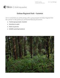 Group program packet for Oxbow Regional Park (summer)