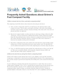 Grimm's Fuel Company - Attachment E to L-043-19 - Health FAQ