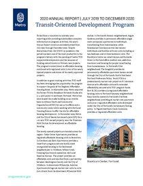 Transit Oriented Development Program 2020 Annual Report