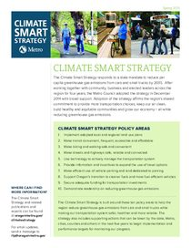 Climate Smart Strategy: Summary