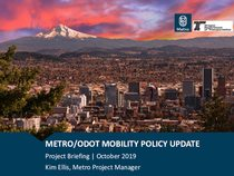 Regional mobility policy update project briefing presentation