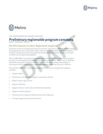 Preliminary regionwide program concepts