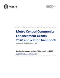 2020 Metro Central Community Enhancement Grantee Handbook