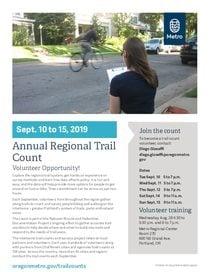 2019 Annual Regional Trail Count Flyer