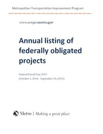 Annual Listing of Federally Obligated Projects, 2015