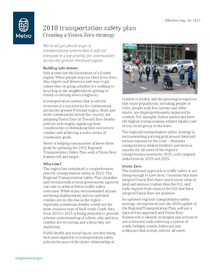 Safety fact sheet: Creating a Vision Zero strategy