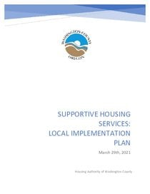 Washington County local implementation plan - supportive housing services